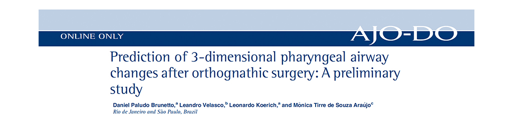 Prediction of 3-Dimensional Pharyngeal Airway Changes After Orthognathic Surgery: A Preliminary Study