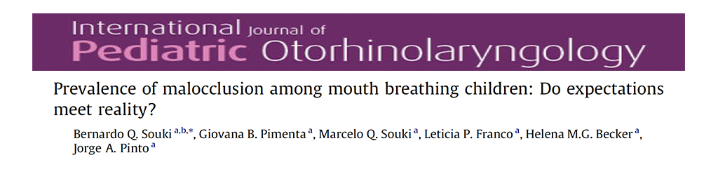 Prevalence of Malocclusion Among Mouth Breathing Children
