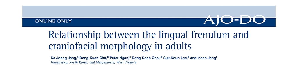 Relationship Between the Lingual Frenulum and Crainiofacial Morphology in Adults